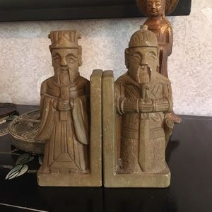 Vintage Chinese Soapstone Bookends